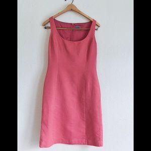 Classic Salmon / Pink Bodycon Sheath Midi Dress